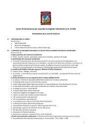 Programma del Corso - Parco Nazionale del Gran Sasso e Monti ...