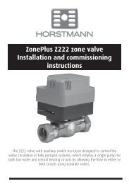 ZonePlus Z222 zone valve Installation and ... - Horstmann