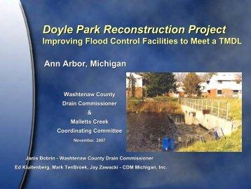 Doyle Park Reconstruction Project Doyle Park Reconstruction ...