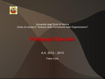 Pedagogia Speciale - Università degli Studi di Verona