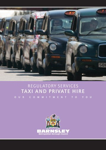 Regulatory Services - Taxi and Private Hire - Barnsley Council Online