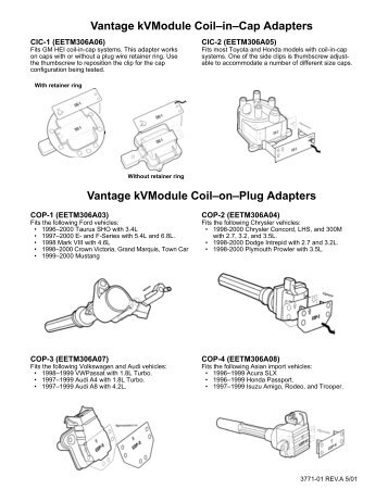 Coil Adapters PDF (70kb) - Snap-on