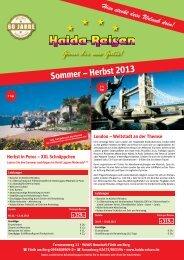 Sommer – Herbst 2013 - Haida-Reisen