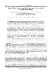 Epidural and general anesthesia versus general ... - Medicina
