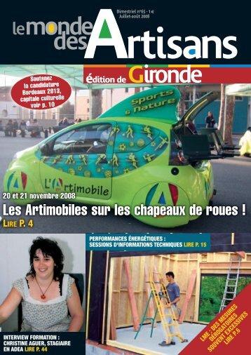Magazines - Chambre des metiers et de l artisanat bordeaux ...