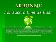 ARBONNE For Such A Time As This