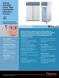 Thermo Scientific Forma® High Performance Laboratory Freezers