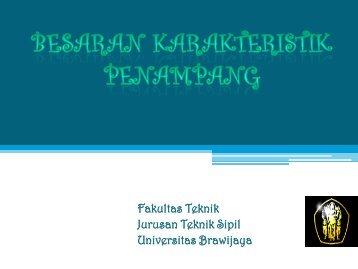 Besaran Karakteristik Penampang - Universitas Brawijaya