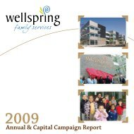 Annual & Capital Campaign Report - Wellspring Family Services