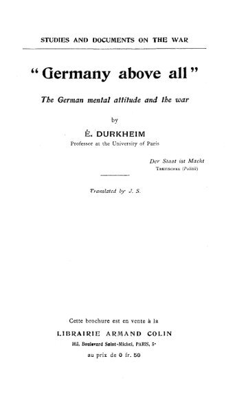 Germany above all: German mentality and war