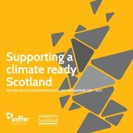 Supporting a climate ready Scotland - Sniffer