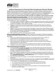 Requisitos Adicionales para Recibir Beneficios de Extensión de ...