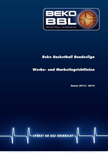 Beko BBL-Werbe- und Marketingrichtlinien 2013-2014