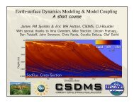 Earth-surface Dynamics Modeling & Model Coupling - CSDMS