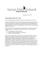 høringsuttalelsen - Human-Etisk Forbund
