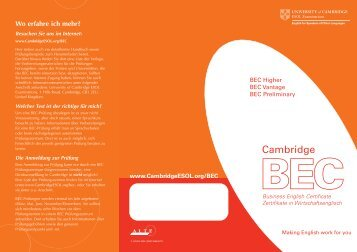 Cambridg - Business School Memmingen