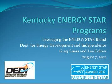 Presentation - National Association of State Energy Officials