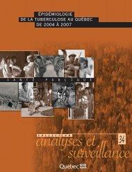 Épidémiologie de la tuberculose au Québec de 2004 à 2007