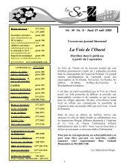 Parution du 2009-08-27 - Municipalité de Saint-Ubalde