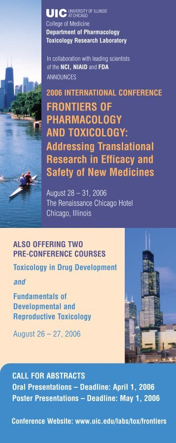 FRONTIERS OF PHARMACOLOGY AND TOXICOLOGY ...