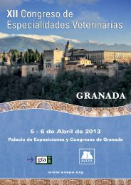 XII Congreso de Especialidades Veterinarias XII Congreso de ...