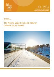 The Nordic State Road and Railway Infrastructure ... - Liikennevirasto