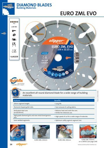 Diamond Blades for Building Materials - Norton Construction Products