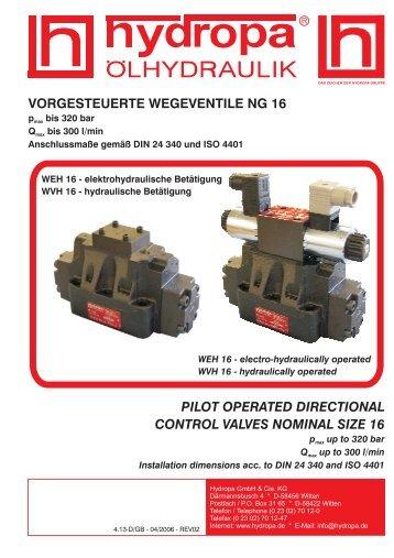 vorgesteuerte wegeventile ng 16 - Hydropa GmbH & Cie. KG