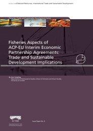 Fisheries Aspects of ACP-EU Interim Economic Partnership ... - ictsd