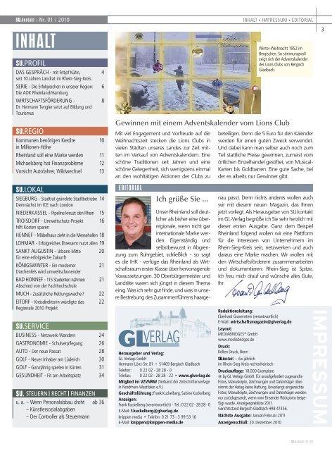 Rhein-Sieg bleibt Wachstumsmarkt - GL VERLAGS GmbH