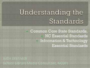 Understanding the Standards - Information & Technology Skills