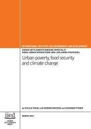 Urban poverty, food security and climate change - IIED pubs ...