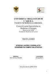 tesi di laurea stress lavoro correlato - Anmil