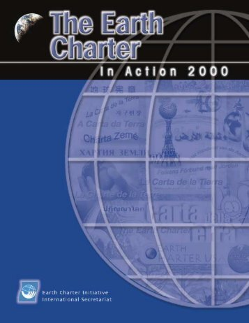 Annual Report 2000 - Earth Charter Initiative