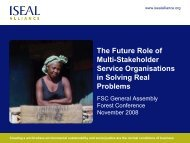 ISEAL Guttenstein Future Role Multi-Stakeholder Organisation 2008 ...