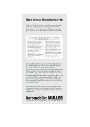 Ihre neue Kundenkarte - Automobile Müller