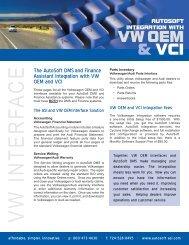 VW OEM & VCI Interface - AutoSoft Inc.