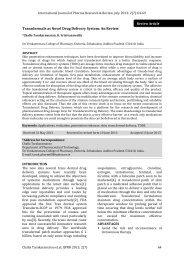 Transdermals as Novel Drug Delivery System - International Journal ...
