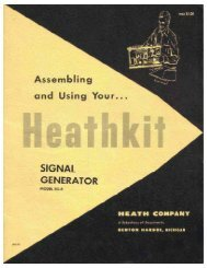 SG-8 Signal Generator - Tubular Electronics