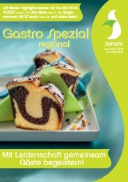 Gastro Spezial Regional - Januar 2014 - Recker Feinkost GmbH