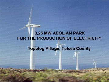 3,25 MW AEOLIAN PARK FOR THE PRODUCTION OF ...