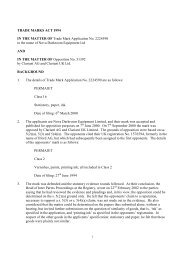 Trade Mark Opposition Decision 0/366/02 - UK Intellectual Property ...