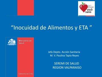 Inocuidad de Alimentos - SEREMI de Salud Región Valparaíso