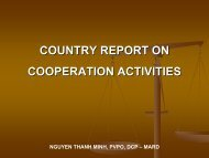 COUNTRY REPORT ON COOPERATION ACTIVITIES