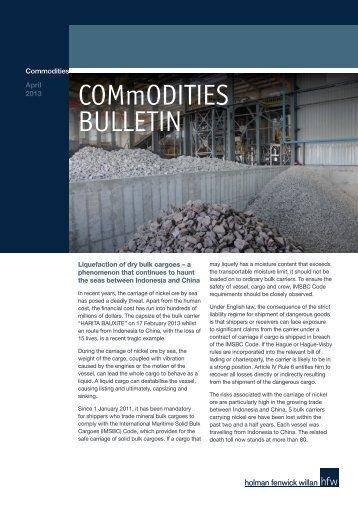 COMmODITIES BULLETIN - HFW