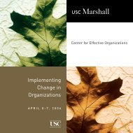 Implementing Change in Organizations - USC Marshall - University ...