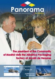 The president of the Community of Madrid visits the ... - Alucoil