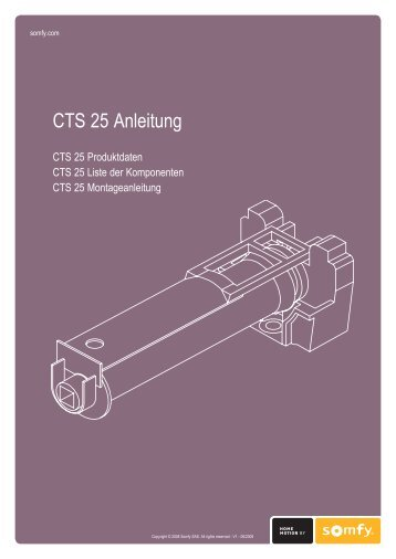 CTS 25 Anleitung - Somfy Architecture