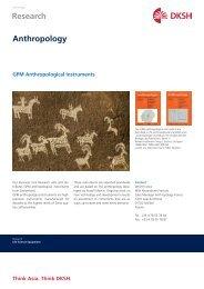 GPM Anthropological Instruments - DKSH France