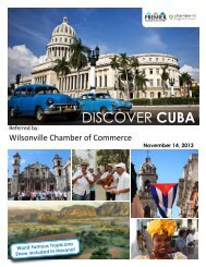 DISCOVER CUBA - ChamberMaster